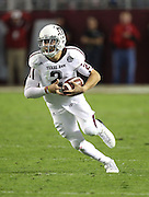 TUSCALOOSA, AL - NOVEMBER 10:  Quarterback Johnny Manziel #2 of the Texas A&M Aggies runs during the game against the Alabama Crimson Tide at Bryant-Denny Stadium on November 10, 2012 in Tuscaloosa, Alabama.  (Photo by Mike Zarrilli/Getty Images)