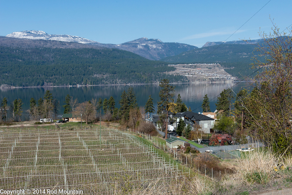 A winery and private residence at Okanagan Lake.