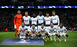 Tottenham Hotspurs' team group (left to right) Top Row: Paulo Gazzaniga, Toby Alderweireld, Serge Aurier, Davinson Sanchez, Son Heung-min and Dele Alli. Bottom Row: Harry Kane, Ben Davies, Harry Winks, Christian Eriksen and Lucas Moura