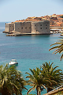 Stock photos of Dubrovnik Port with St John's Fort - Croatia