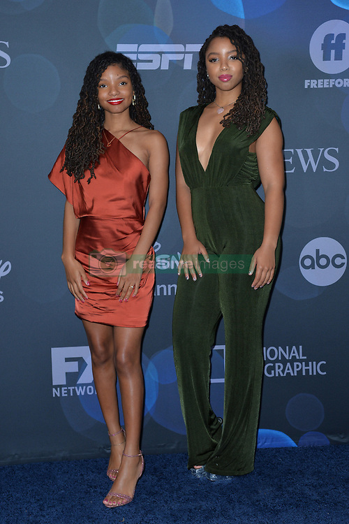 May 14, 2019 - New York, NY, USA - May 14, 2019  New York City..Halle Bailey and Chloe Bailey attending Walt Disney Television Upfront presentation party arrivals at Tavern on the Green on May 14, 2019 in New York City. (Credit Image: © Kristin Callahan/Ace Pictures via ZUMA Press)