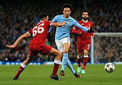 Leroy Sane of Manchester City and Trent Alexander-Arnold of Liverpool - Mandatory by-line: Matt McNulty/JMP - 10/04/2018 - FOOTBALL - Etihad Stadium - Manchester, England - Manchester City v Liverpool - UEFA Champions League Quarter Final Second Leg