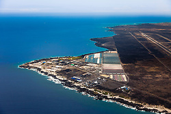 National Energy Laboratory of Hawaii, USA Authority (NELHA) - a state agency that operates a unique and innovative ocean science and technology park, strategically located at Keahole Point next to the Kona International Airport and adjacent to one of the steepest bathymetric offshore slopes in the Hawaii, USAan Islands, developing clean energy, various aquaculture and other ocean-related research by utilizing deep cold seawater from 2,000-foot depth, Kona Coast, Big Island, Hawaii, USA, Pacific Ocean