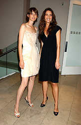 Left to right, models STELLA TENNANT and  SHALOM HARLOW at a cocktail party hosted by MAC cosmetics to kick off London Fashion Week at The Hospital, 22 Endell Street London on 18th September 2005.At the event, top model Linda Evangelista presented Ken Livingston the Lord Mayor of London with a cheque for £100,000 in aid of the Loomba Trust that aims to privide education to orphaned children through a natural disaster or through HIV/AIDS.<br /><br />NON EXCLUSIVE - WORLD RIGHTS