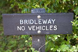 Bridleway sign post