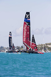 June 25, 2017 - France - The Great Sound, Bermuda, 25th June 2017. Emirates Team New Zealand and Oracle Team USA race seven. Day four of racing in the America's Cup presented by Louis Vuitton. (Credit Image: © Panoramic via ZUMA Press)