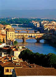 Aerial view of Ponte Vecchio bridge (Credit Image: © Axiom/ZUMApress.com)