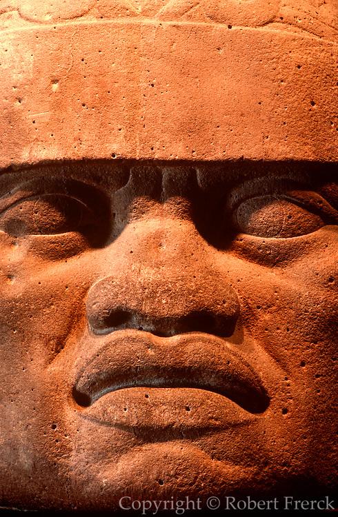 MEXICO, MEXICO CITY, MUSEUM Olmec; giant stone head 1200-600BC