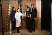 LANSHU CHEN; ELENA ARZAK; ;  HELENA RIZZO; AYMERIC SANCERRE, Veuve Clicquot World's Best Female chef champagne tea party. Halkin Hotel. Halkin St. London SW1. 28 April 2014.