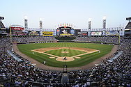 CHICAGO - JULY 05:  A general view of U.S. Cellular Field as 38,092 fans watch the Los Angeles Angels of Anaheim play an MLB game against the Chicago White Sox on July  5, 2010 at U.S. Cellular Field in Chicago, Illinois.  The White Sox defeated the Angels 9-2.  (Photo by Ron Vesely)