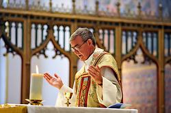 Catholic Priest conducts a wedding ceremony