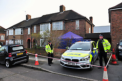 © Licensed to London News Pictures.06/04/2018<br /> HITHER GREEN, UK.<br /> DAY 3 Hither Green Burglary Murder. South Park Crescent,Hither Green.<br /> Police outside the home of 78 year old Richard Osborn-Brooks who has been bailed for stabbing a burglar to death in his home.<br /> Photo credit: Grant Falvey/LNP