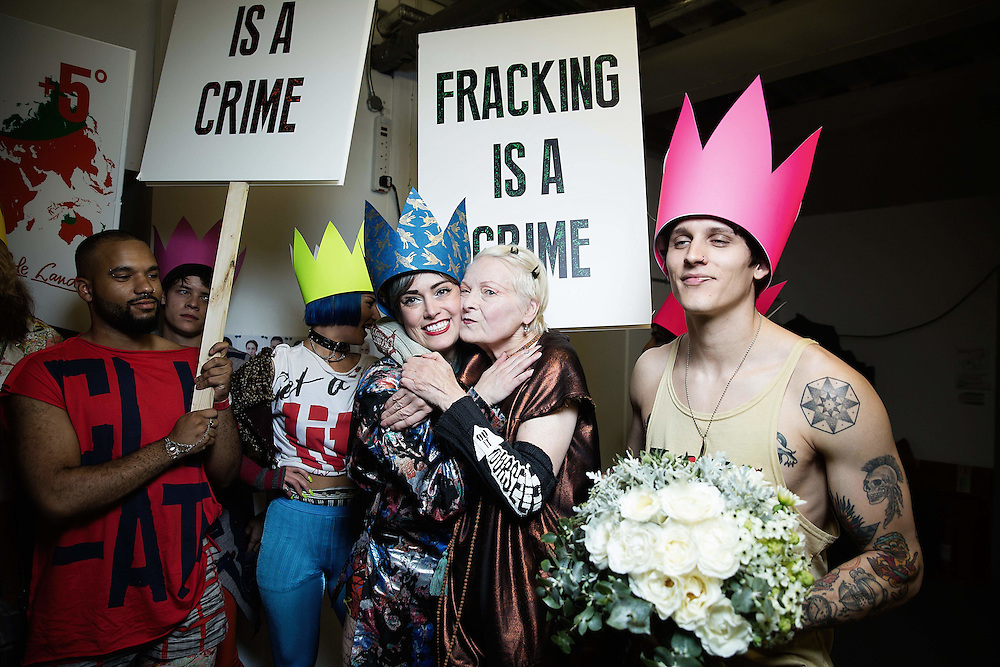 Vivienne Westwood Backstage at show part of LFW SS16  in London Fashion Week on 20 September 2015.<br /> Photos Ki Price