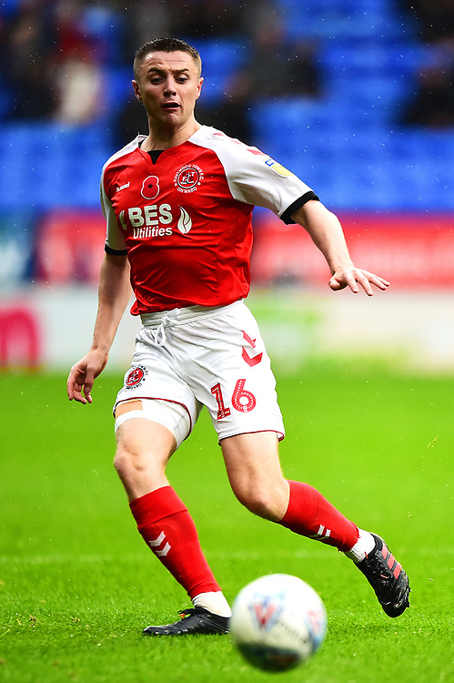 Fleetwood Town's Jordan Rossiter in action<br /> <br /> Photographer Richard Martin-Roberts/CameraSport<br /> <br /> The EFL Sky Bet League One - Bolton Wanderers v Fleetwood Town - Saturday 2nd November 2019 - University of Bolton Stadium - Bolton<br /> <br /> World Copyright © 2019 CameraSport. All rights reserved. 43 Linden Ave. Countesthorpe. Leicester. England. LE8 5PG - Tel: +44 (0) 116 277 4147 - admin@camerasport.com - www.camerasport.com
