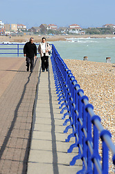 © Licensed to London News Pictures. 10/10/2014<br /> Eastbourne Seafront today (10.10.2014) <br /> A windy sunny day on Eastbourne seafront.<br /> (Byline:Grant Falvey/LNP)