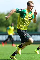 31.07.2014, Trainingsgelände am Weserstadion, Bremen, GER, 1. FBL, SV Werder Bremen Training,  im Bild Izet Hajrovic (SV Werder Bremen #14) beim Sprint // during the training session on the training ground of the German Bundesliga Club SV Werder Bremen at the Weserstadion, Bremen, Germany on 2014/07/31. EXPA Pictures © 2014, PhotoCredit: EXPA/ Andreas Gumz<br /> <br /> *****ATTENTION - OUT of GER*****