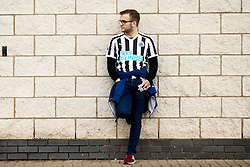 A Newcastle United fan arrives at Leicester City - Mandatory by-line: Robbie Stephenson/JMP - 29/09/2019 - FOOTBALL - King Power Stadium - Leicester, England - Leicester City v Newcastle United - Premier League