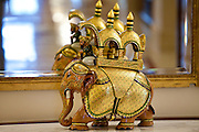 Iconic elephant ornament at The Imperial Hotel with its luxury colonial elegance, New Delhi, India