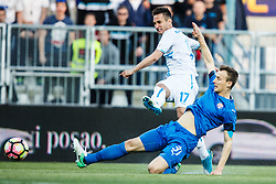Mario Gavranovic #17 of HNK Rijeka and Marko Leskovic #31 of GNK Dinamo Zagreb during football match between HNK Rijeka and GNK Dinamo Zagreb in Round #27 of 1st HNL League 2016/17, on November 5, 2016 in Rujevica stadium, Rijeka, Croatia. Photo by Grega Valancic / Sportida