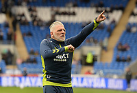 Leo Percovich during the pre-match warm-up <br /> <br /> Photographer Ian Cook/CameraSport<br /> <br /> The EFL Sky Bet Championship - Cardiff City v Middlesbrough - Saturday 23rd October 2021 - Cardiff City Stadium - Cardiff<br /> <br /> World Copyright © 2020 CameraSport. All rights reserved. 43 Linden Ave. Countesthorpe. Leicester. England. LE8 5PG - Tel: +44 (0) 116 277 4147 - admin@camerasport.com - www.camerasport.com