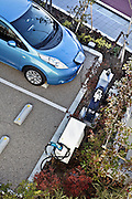 electrical car parked at charge spot