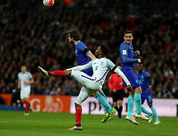 Daniel Sturridge (Front) of England competes during the International Friendly Match between England and the Netherlands at Wembley Stadium in London, Britain, on March 29, 2016. England lost 1-2. EXPA Pictures © 2016, PhotoCredit: EXPA/ Photoshot/ Han Yan<br /> <br /> *****ATTENTION - for AUT, SLO, CRO, SRB, BIH, MAZ, SUI only*****