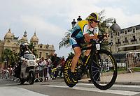 Sykkel<br /> Tour de France<br /> Foto: DPPI/Digitalsport<br /> NORWAY ONLY<br /> <br /> CYCLING - TOUR DE FRANCE 2009 - MONACO - 04/07/2009 <br /> <br /> STAGE 1 - INDIVIDUAL TIME TRIAL - MONACO > MONACO - LANCE ARMSTRONG (USA) / ASTANA