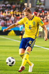 June 27, 2018 - Ekaterinburg, Russia - 180627 Ludwig Augustinsson of Sweden during the FIFA World Cup group stage match between Mexico and Sweden on June 27, 2018 in Ekaterinburg..Photo: Petter Arvidson / BILDBYRÃ…N / kod PA / 87737 (Credit Image: © Petter Arvidson/Bildbyran via ZUMA Press)