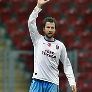 Trabzonspor's Remzi Giray KACAR during their Turkish superleague soccer derby match Galatasaray between Trabzonspor at the TT Arena in Istanbul Turkey on Sunday, 10 April 2011. Photo by TURKPIX