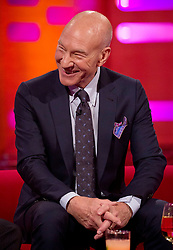 Patrick Stewart during filming of the Graham Norton Show at The London Studios.