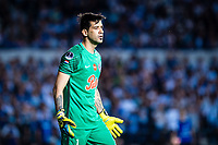 AVELLANEDA, BUENOS AIRES, ARGENTINA - 2017 NOVEMBER 01. Club Libertad (1) GK Rodrigo Muñoz during the Copa Sudamericana quarter-finals 2nd leg match between Racing Club de Avellaneda and Club Libertad at Estadio Juan Domingo Perón,  <br /> ( Photo by Sebastian Frej )