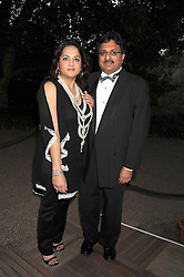 The HON.AKASH PAUL son of Lord paul and his wife NISHA PAUL at the Royal Parks Foundation Summer Party hosted by Candy & Candy on the banks of the Serpentine, Hyde Park, London on 10th September 2008.