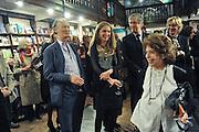 COUNT CHRISTOPHE GOLLUT; ALBA ARIKHA, Book launch for Major/Minor by Alba Arikha. A  memoir about her adolescence in Paris published by Quartet Books. Daunts. London. 8 November 2011<br /> <br />  , -DO NOT ARCHIVE-© Copyright Photograph by Dafydd Jones. 248 Clapham Rd. London SW9 0PZ. Tel 0207 820 0771. www.dafjones.com.