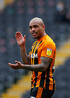 Hull City's Josh Magennis appeals to the assistant Referee for a handball<br /> <br /> Photographer Lee Parker/CameraSport<br /> <br /> The EFL Sky Bet League One - Hull City v Bristol Rovers - Saturday 6th March 2021 - KCOM Stadium - Kingston upon Hull<br /> <br /> World Copyright © 2021 CameraSport. All rights reserved. 43 Linden Ave. Countesthorpe. Leicester. England. LE8 5PG - Tel: +44 (0) 116 277 4147 - admin@camerasport.com - www.camerasport.com