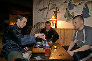 Moscow, Russia, 03/04/2004..Dancers, musicians and the tea ceremony at Tea Club, which specialises in Eastern culture.