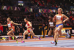 2018?3?2?.     ?????1???——????????60?????.        3?2??????????????????.        ????????????2018???????????60?????????7?24????????????????.        ???????? .(SP) BRITAIN-BIRMINGHAM-TRACK AND FIELD-IAAF WORLD INDOOR CHAMPIONSHIPS DAY 2.(180302) -- LONDON, Mar. 2, 2018  Xiaojing Liang (2nd L) of China competes in the women's 60 metres round 1 match during the IAAF World Indoor Championships at Arena Birmingham in Birmingham, Britain on Mar. 2, 2018. (Credit Image: © Han Yan/Xinhua via ZUMA Wire)