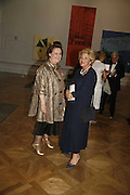 Susy Menkes and Dame Vivian Duffield, Royal Academy Annual dinner. Royal Academy, Piccadilly. 6 June 2006. ONE TIME USE ONLY - DO NOT ARCHIVE  © Copyright Photograph by Dafydd Jones 66 Stockwell Park Rd. London SW9 0DA Tel 020 7733 0108 www.dafjones.com
