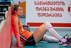 01-10-2017 AZE: Final CEV European Volleyball Nederland - Servie, Baku<br /> Nederland verliest opnieuw de finale op een EK. Servië was met 3-1 te sterk / Nicole Koolhaas #22 of Netherlands, Yvon Belien #3 of Netherlands