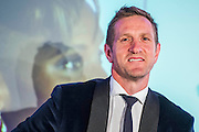 Will Greenwood - UK charity, Sport for Freedom (SFF), marks Anti-Slavery Day 2015 by hosting a charity Gala Dinner, supported by Aston Martin, on Thursday 15th October at Stamford Bridge, home of Chelsea Football Club. This inaugural event brought together people from the world of sport, entertainment, media, and business to unite behind a promise to tackle the issue of modern day human trafficking and slavery.  <br /> Hosted by Sky presenters Sarah-Jane Mee and Jim White, the Sport for Freedom Gala Dinner includes guests such as jockey AP McCoy OBE; Denise Lewis, former British Olympic Gold Medal winner; BBC Strictly star, Brendan Cole; Al Bangura, former Watford FC player and Sport for Freedom Ambassador who was trafficked from Africa to the UK at the age of just 14yrs old; Made in Chelsea star, Ollie Proudlock; ITV weather presenter, Lucy Verasamy; Sky Sports F1 presenter and SFF Ambassador, Natalie Pinkham; Premier League footballers Ryan Bertrand of Southampton FC and Troy Deeney of Watford FC and champion boxer, Anthony Joshua; and The UK's first independent Anti Slavery Commissioner, Kevin Hyland OBE, who highlighted the issues of modern day slavery that face the UK and world today. <br /> The evening concluded with chart topping music from 'Naughty Boy'. <br /> Sport for Freedom are also joining forces with the Premier League Academies for an international  'Football for Freedom' tournament with their U16's players that will also involve educating those taking part about the issues surrounding modern day slavery. The final will take place at Liverpool FC's Academy on Anti-Slavery Day, 18th October.