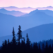 Image of the North Cascades mountain range as seen from Mt Rainier National Park, Washington, Pacific Northwest by Randy Wells