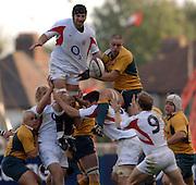 2005 Rugby, Investec Challenge, England vs Australia, Steve Borthwick , winning the line out ball. RFU Twickenham, ENGLAND:     12.11.2005   © Peter Spurrier/Intersport Images - email images@intersport-images..