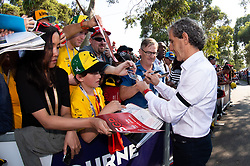 March 17, 2019 - Albert Park, VIC, U.S. - ALBERT PARK, VIC - MARCH 17: Four Time World Champion Alain Prost at The Australian Formula One Grand Prix on March 17, 2019, at The Melbourne Grand Prix Circuit in Albert Park, Australia. (Photo by Speed Media/Icon Sportswire) (Credit Image: © Steven Markham/Icon SMI via ZUMA Press)