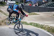 #343 (BRESCHAN Noah) SUI during practice at Round 5 of the 2018 UCI BMX Superscross World Cup in Zolder, Belgium