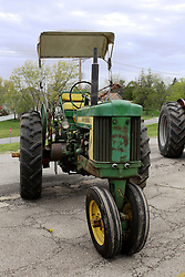 04 May 2013:   Arranged to coincide and be a part of the Red Corridor Route 66 festival, the village of Lexington hosts an antique tractor show.  Roger Whaley is the chairman of the organizing committee.  1957 John Deere model 520.