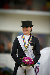 Podium Kür, Bröring Sprehe Kristina, (GER)<br /> Grand Prix Kur<br /> European Championships - Aachen 2015<br /> © Hippo Foto - Dirk Caremans<br /> 16/08/15