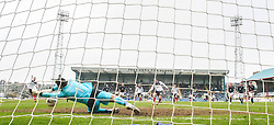 Dundee's keeper Kyle Letheren saves Falkirk's Mark Millar penalty.<br /> Dundee 0 v 1 Falkirk, Scottish Championship game played today at Dundee's Dens Park.<br /> © Michael Schofield.