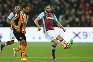 Andy Carroll of West Ham United in action. Premier league match, West Ham Utd v Hull city at the London Stadium, Queen Elizabeth Olympic Park in London on Saturday 17th December 2016.<br /> pic by John Patrick Fletcher, Andrew Orchard sports photography.