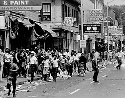 July 23, 1967 - Michigan, U.S. - The streets of Detroit during the 1967 riot. (Credit Image: © Detroit Free Press via ZUMA Wire)