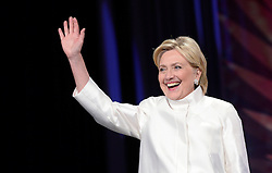 2016 Democratic nominee for president of the United States Hillary Clinton waves as she arrives on stage a the Congressional Black Caucus Foundation's 46th Annual Legislative Conference Phoenix Awards Dinner, September 17 2016, in Washington, DC, USA. Photo by Olivier Douliery/Pool/ABACAPRESS.COM