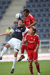 Carl Finnigan & Michael Stegmayer.<br /> Falkirk v FC Vaduz, Europa League Qualifying.<br /> ©2009 Michael Schofield. All Rights Reserved.